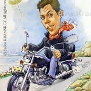 На байке. Подарок другу, владельцу мотоцикла.