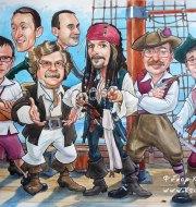 Корпоративный шарж пираты