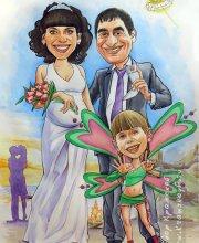Этот шарж подарок супругу на годовщину свадьбы. Все любят отдыхать в Крыму.