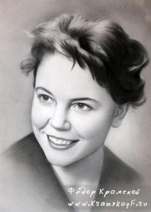 Портрет с фотографии сухая кисть