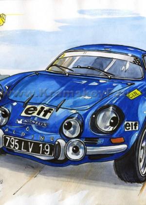Рисунок ретро автомобиля