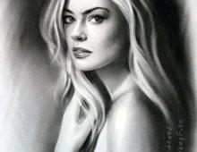 Портрет девушки с длинными волосами