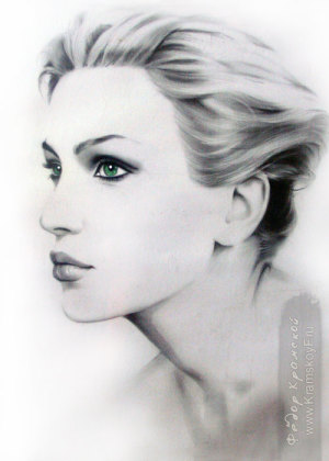 Портрет зеленоглазой девушки